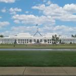 Parlamentsgebäude in der australischen Hauptstadt Canberra
